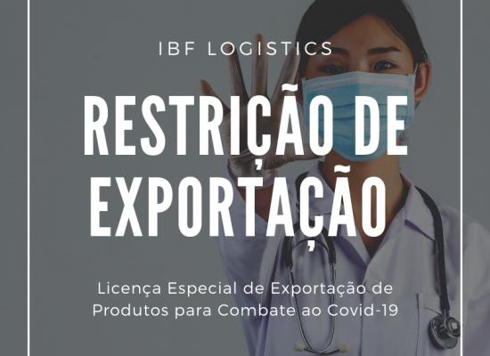 Exportação de produtos para combate ao Corona vírus